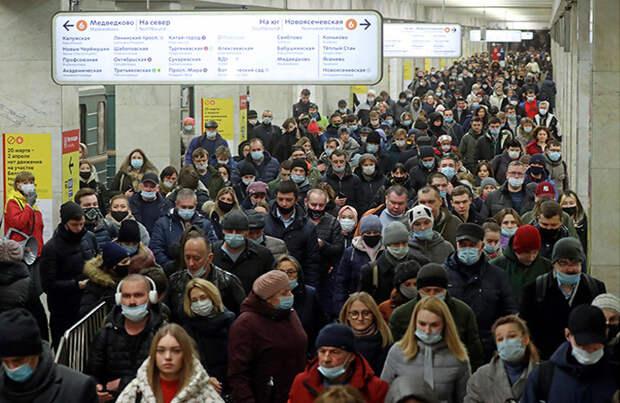 Население Москвы увеличилось почти на 2 млн человек с 1990 года