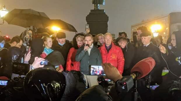 На митинге КПРФ в Москве скандировали «Навальный!»