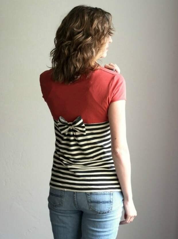 Переделка футболок (подборка)