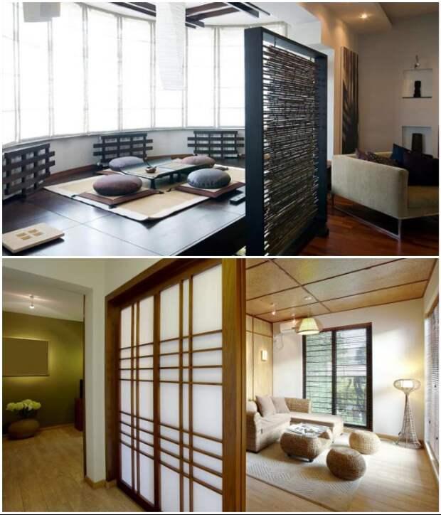 Полупрозрачные перегородки помогают зонировать пространство. | Фото: interiordesign.lovetoknow.com/ freepik.com.