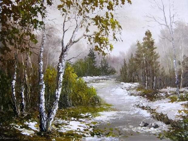 Русские пейзажи в картинах Василия Денисова