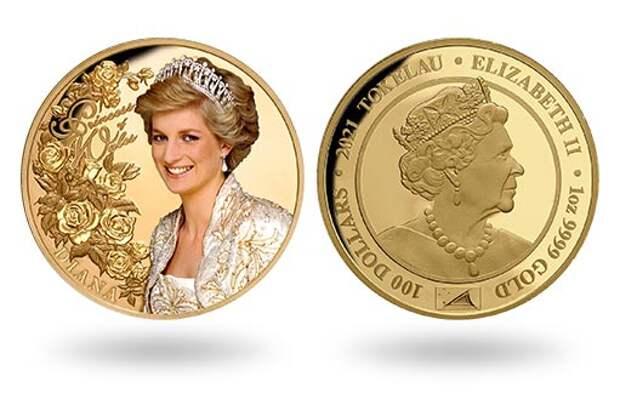 Токелау выпустит золотые монеты в честь леди ДИ