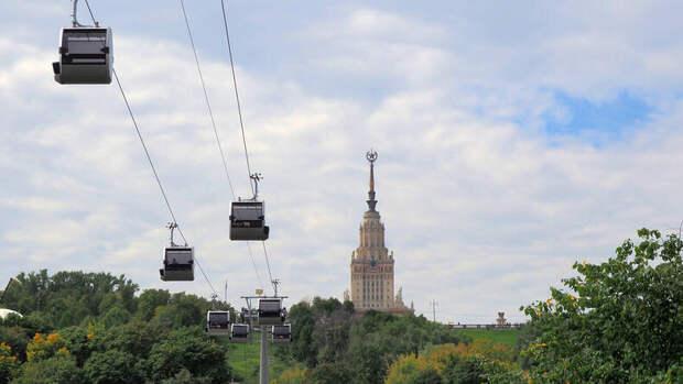 Новая канатная дорога на Воробьевы горы
