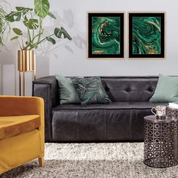 Dekoria.pl изображения Abstract Green & Gold