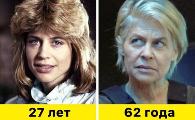 """9. Линда Хэмилтон - """"Терминатор"""" (1984) и """"Терминатор: Темные судьбы"""" (2019)"""