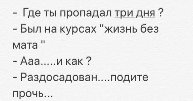 Воспитанный человек никогда не скажет:  - Да заткнись уже!..