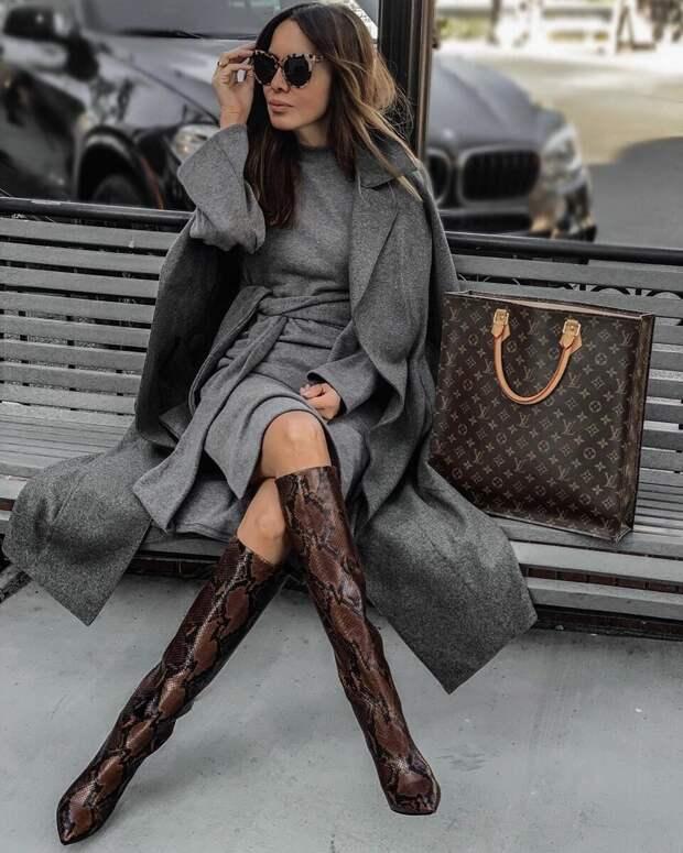 Роскошные образы для любительниц серого цвета