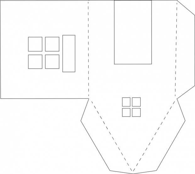Бумажные домики diy