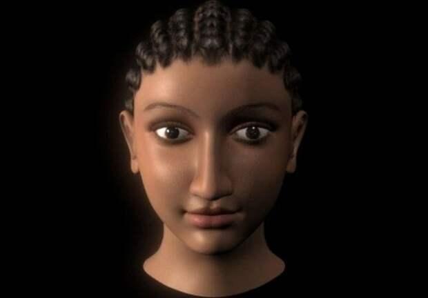 Компьютерная модель головы Клеопатры