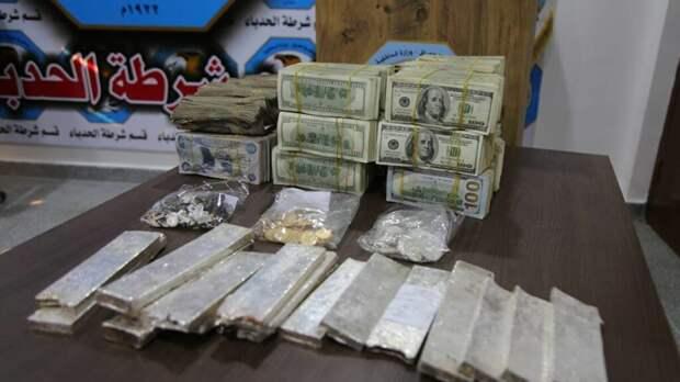 В Ираке нашли клад террористов с золотом, серебром и полутора миллионами долларов