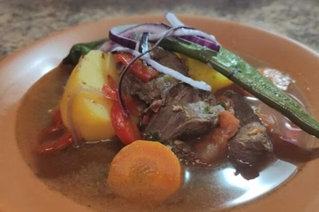 Фото к рецепту: Шурпа из лосятины, суп из лося