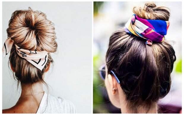 100 причёсок с платками и лентами (трафик)