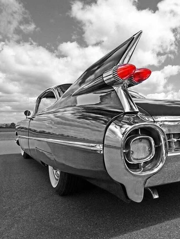 1959 Cadillac Tail Fins автомир, интересное, красота, плавниковый стиль, факты