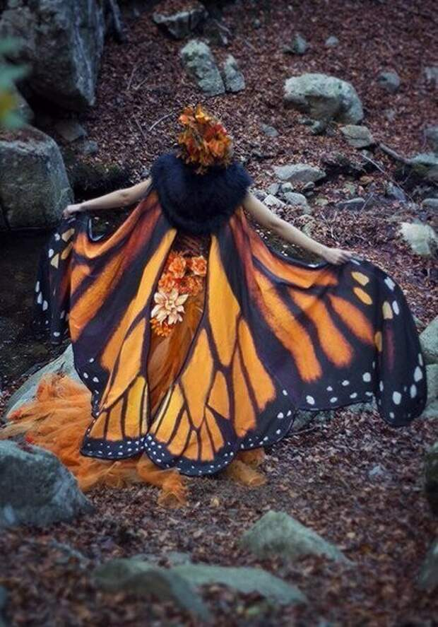 Волшебные платки в форме крыльев бабочек