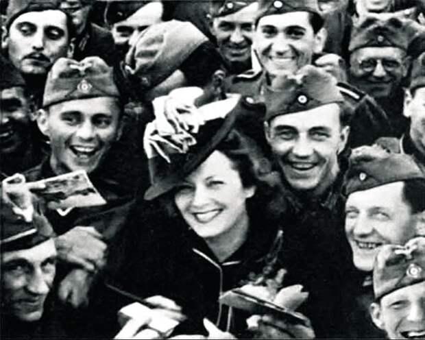 Её обожали немецкие солдаты. /
