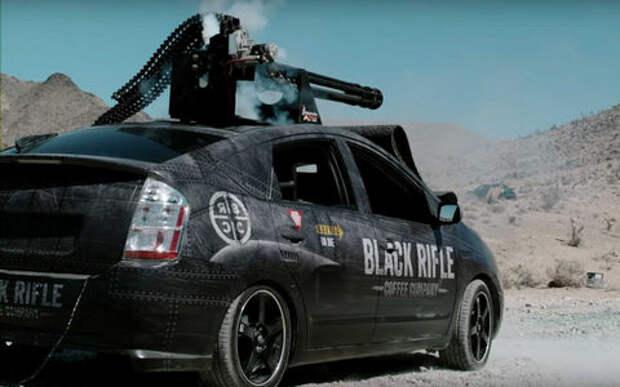 На защиту экологии встала Toyota Prius с пулеметом