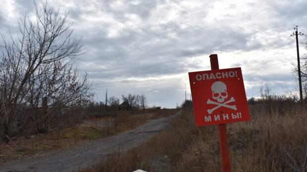 Бойцы ВСУ установили противотанковые мины у поселка в Донбассе