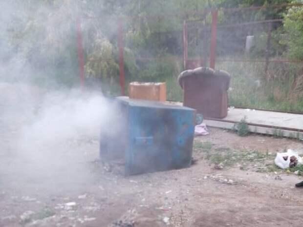 Неизвестные подожгли мусорные контейнеры в Чите