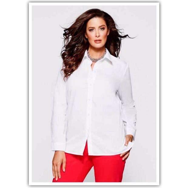 Белая рубашка. Должна быть у каждой!