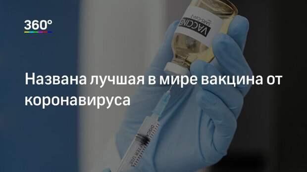 Названа лучшая в мире вакцина от коронавируса