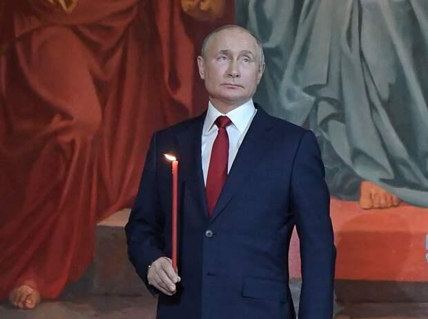 Владимир Путин поздравил верующих с Пасхой