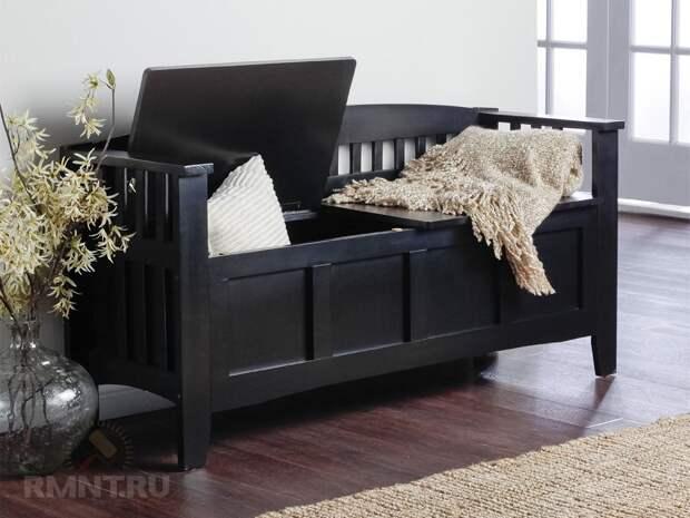 Мебель «два в одном»: сиденье и место хранения