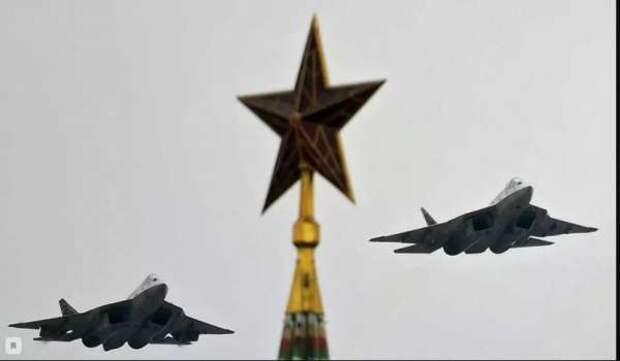 Американцы с восхищением отозвались о полете Су-57 на Параде Победы