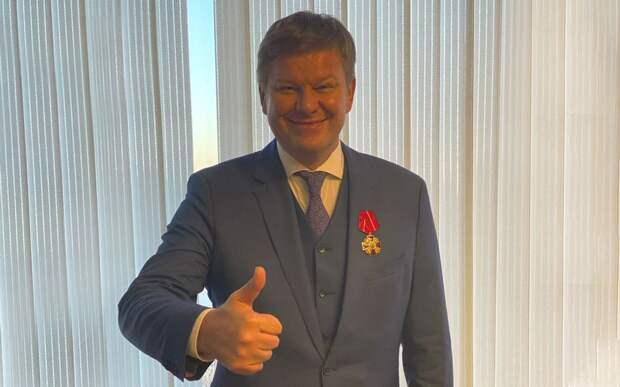 Губерниев удостоился ордена Александра Невского