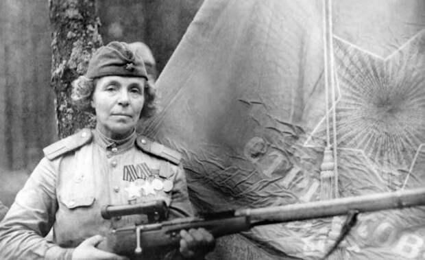 Уходила на фронт бабушкой: снайпер «Мама Нина», которой боялись нацисты Великая Отечественная война, Чтобы помнили, Видео, Длиннопост, Снайперы, Женщина