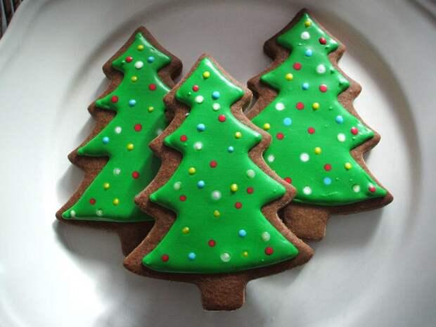 Печенье на Новый год «Елочки» (2 рецепта)