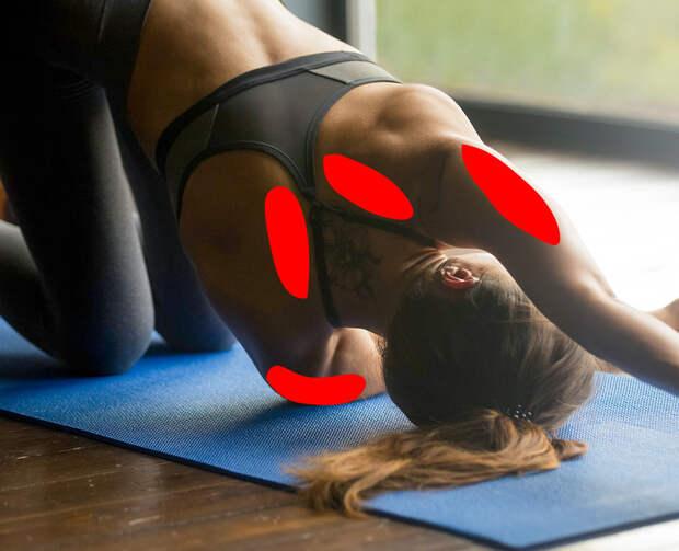 11упражнений для снятия напряжения вшее иплечах