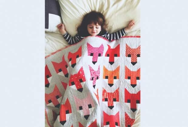 одеяло лиса пэчворк 1