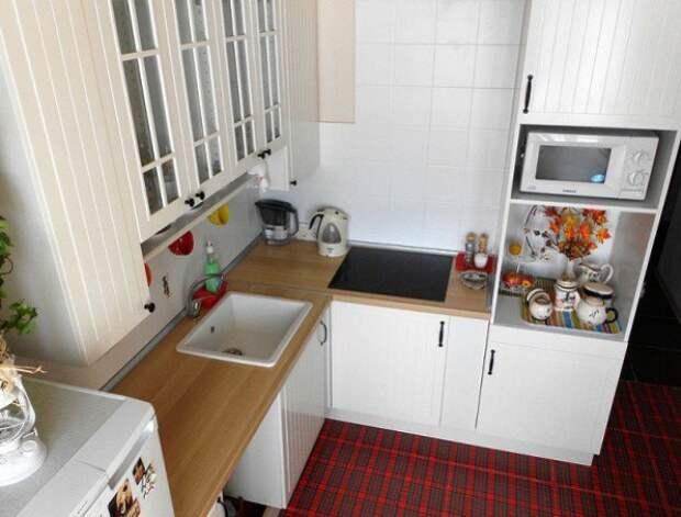 Дизайн рабочей зоны небольшой кухни