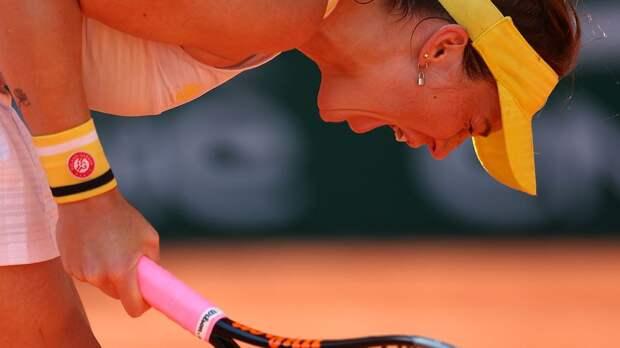 Павлюченкова обыграла Зиданшек и впервые в карьере вышла в финал «Ролан Гаррос»