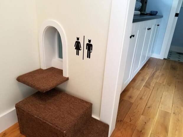 Встроенный кошачий туалет