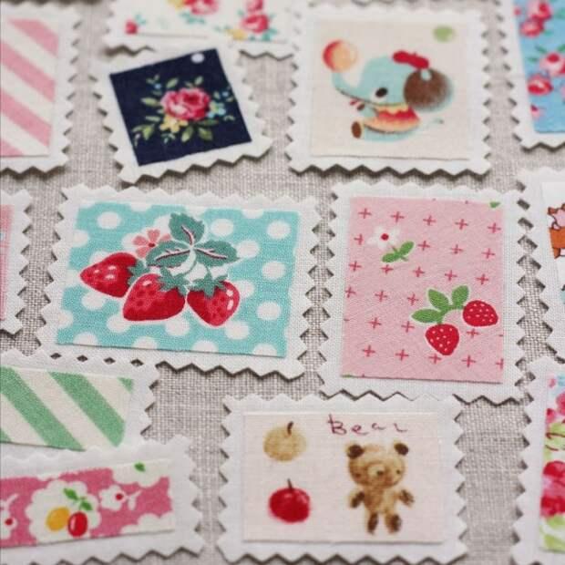 Текстильные почтовые марки