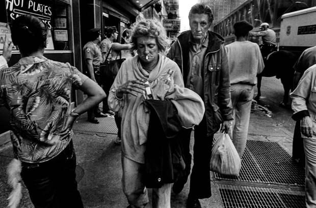 Черно-белая реальность Нью-Йорка 80-х нафотографиях Брюса Гилдена