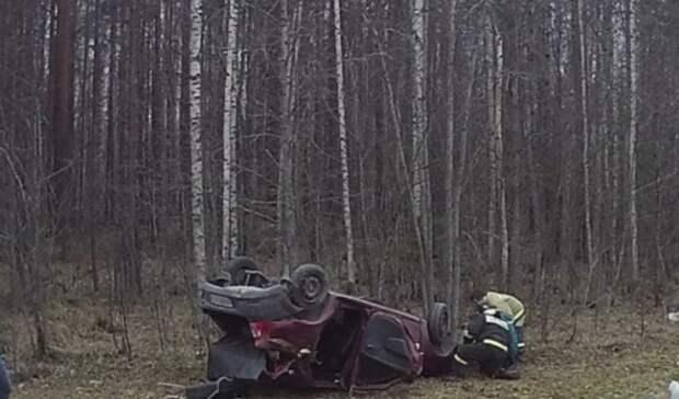 Врайоне Карелии водитель уснул зарулем ивылетел вкювет