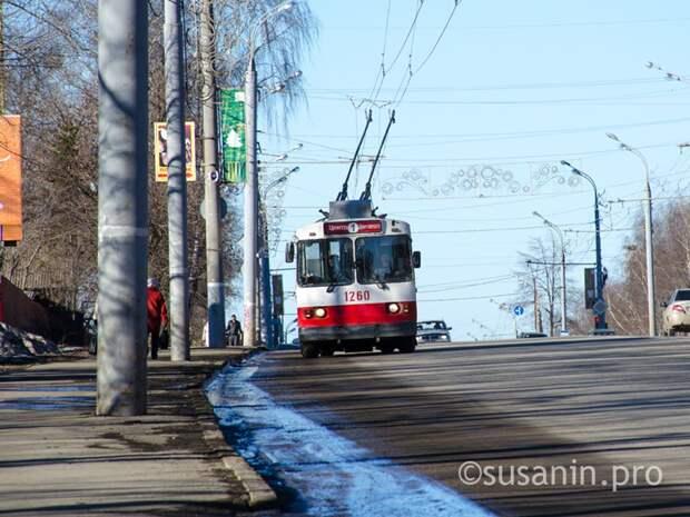 Троллейбусы перенаправят с Пушкинской на Удмуртскую на время репетиций Парада Победы в Ижевске