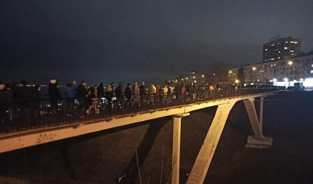 Участники митинга вподдержку Навального дошли донабережной Федоровского