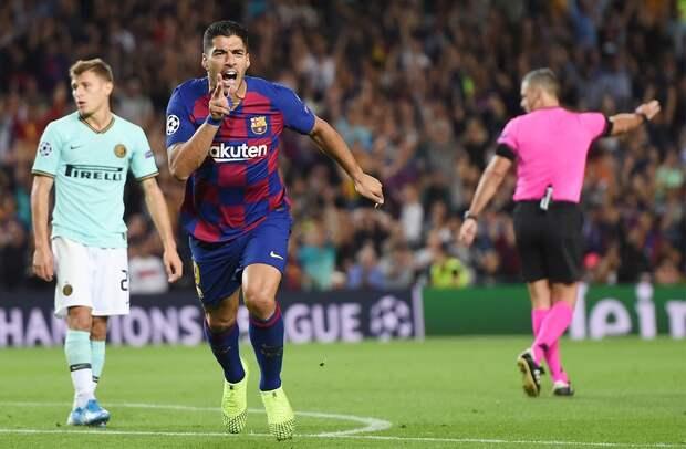 Красивый удар слета форварда «Барселоны» Суареса признан голом недели вЛиге чемпионов