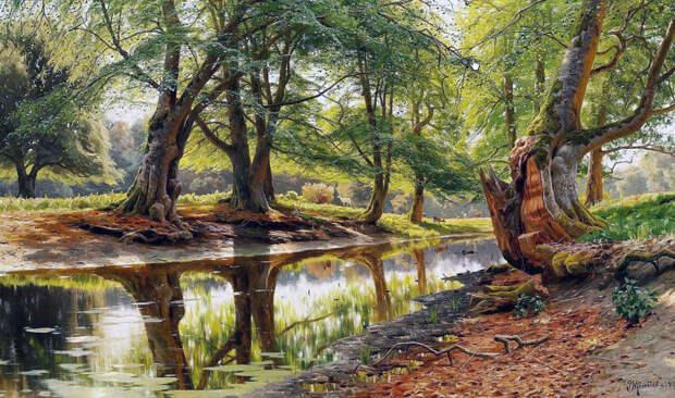 Поток в Dyrehaven, 1904 год. Частное собрание