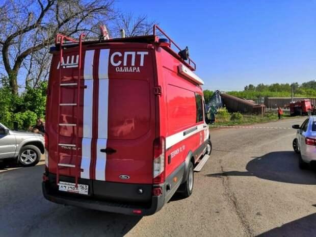 ВСамарской области 15 вагонов сошли срельсов— видео