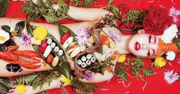 Ниотамори: как появилась традиция есть суши собнаженного женского тела