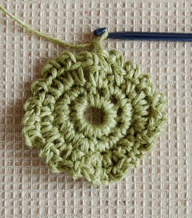 При вязании используются петли и столбики