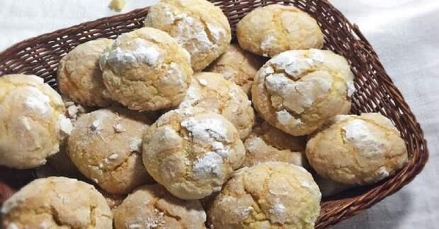 Мягкое печенье с мандаринами