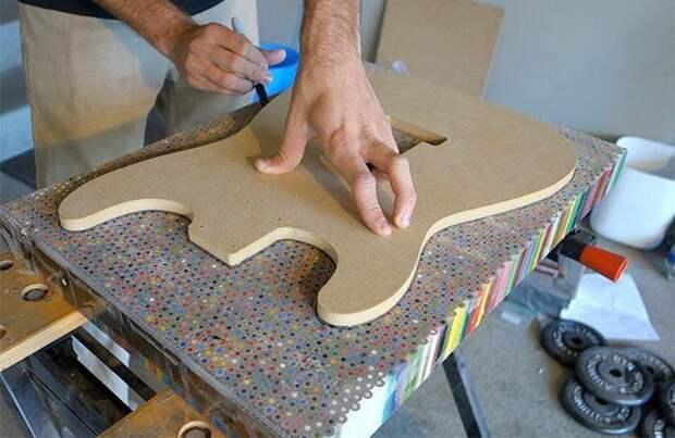 Гитара из цветных карандашей своими руками (Diy)