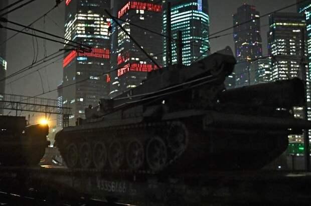 В Москву прибыла военная техника, принимающая участие в Параде Победы