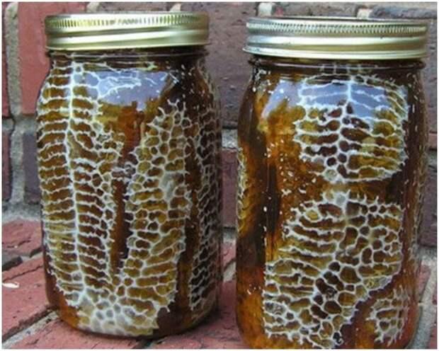 Гениальное решение для улья: сотовый мед прямо в банках
