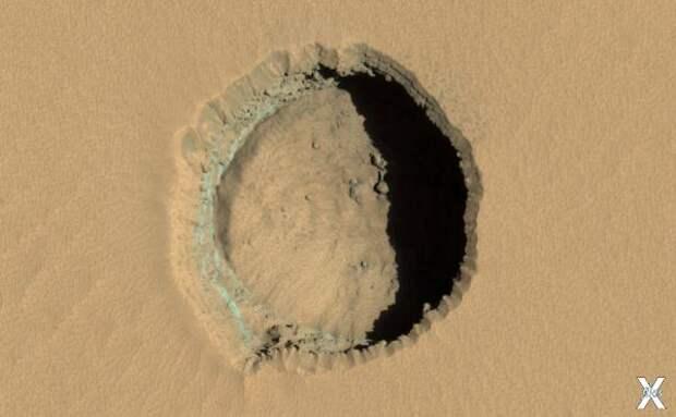 Ещё один обвал на Марсе